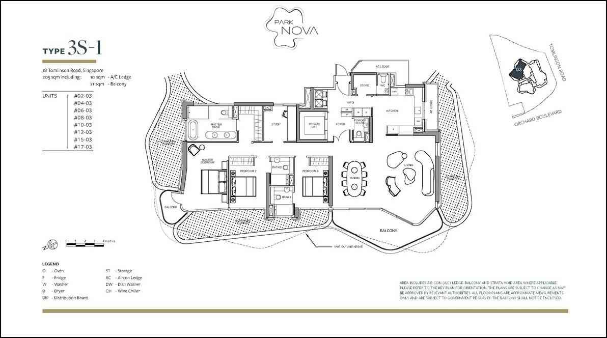 Park Nova - 3 Bedroom floor plan
