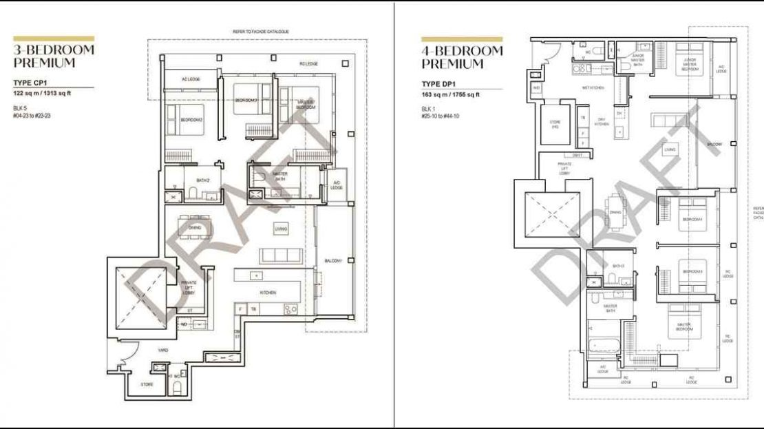 CanningHill Piers - 3BR & 4BR Floor Plan