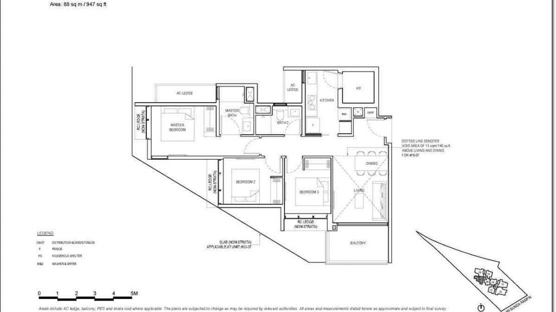 Bartley Vue Floor Plan_3 BR