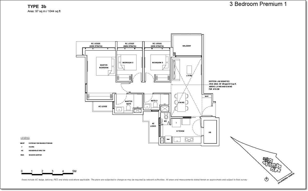 Bartley Vue Floor Plan_3 BR Premium