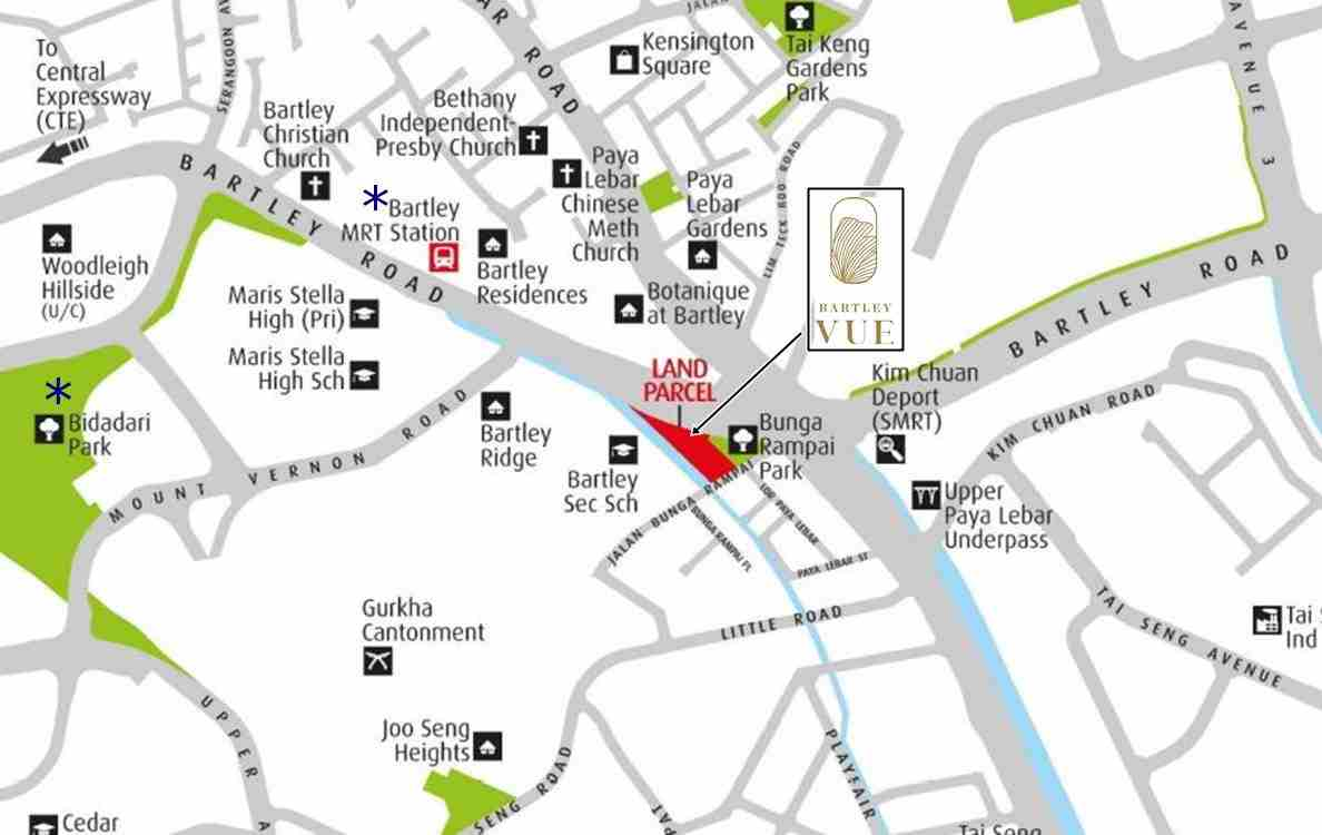 Bartley Vue Location map 1