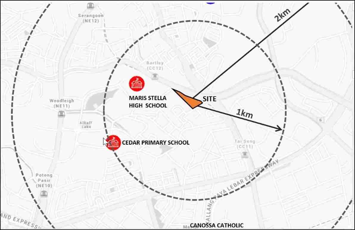 Bartley Vue - Nearby Schools within 1 Km