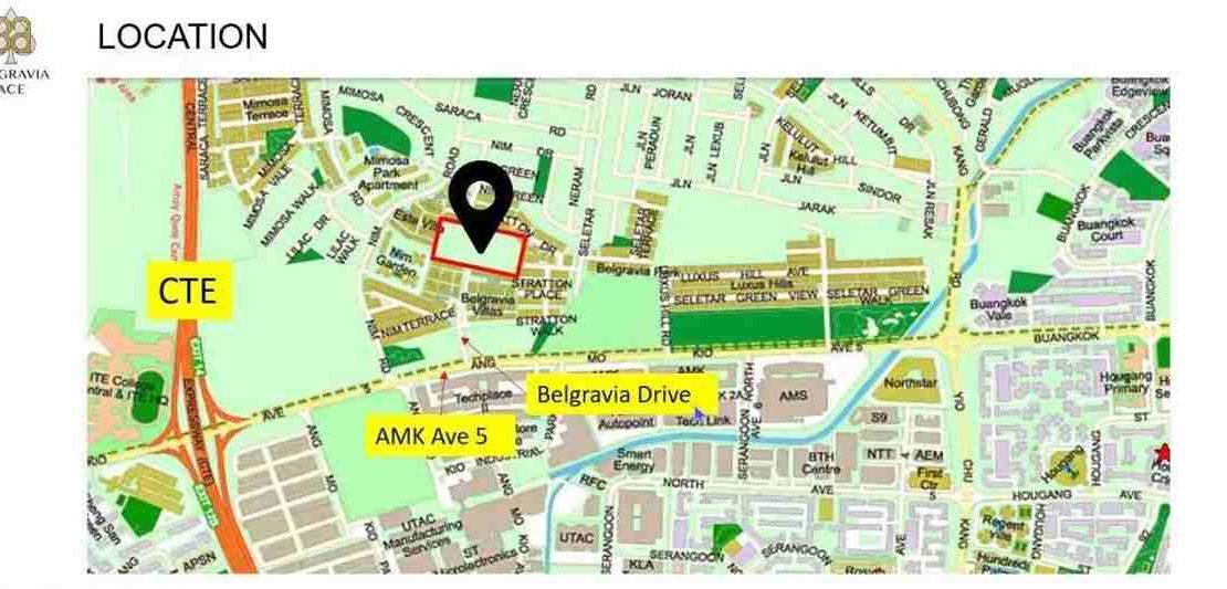 Belgravia Ace - Location Map