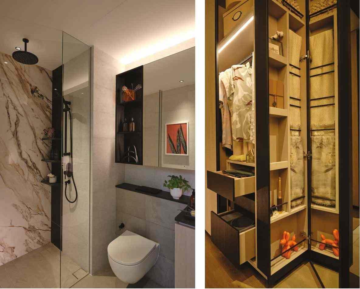Jervois Mansion - Bathroom & Wardrope