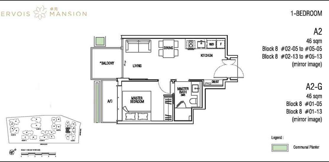 Jervois Mansion - Floorplans 1BR