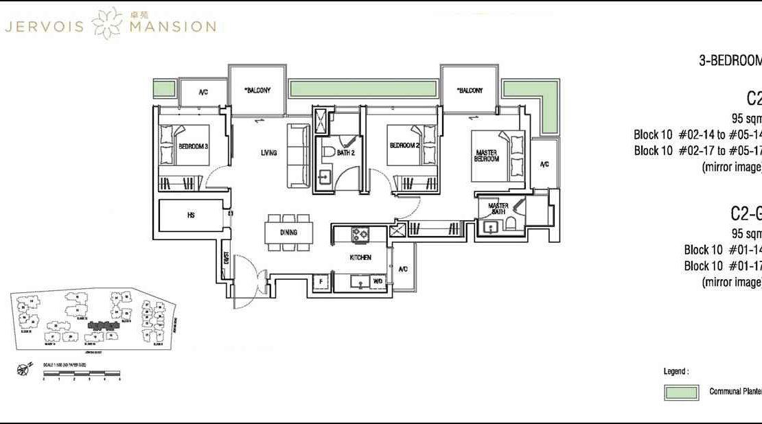 Jervois Mansion - Floorplans 3BR