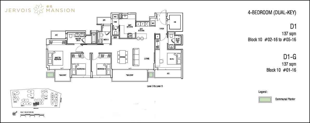 Jervois Mansion - Floorplans 4 BR DK