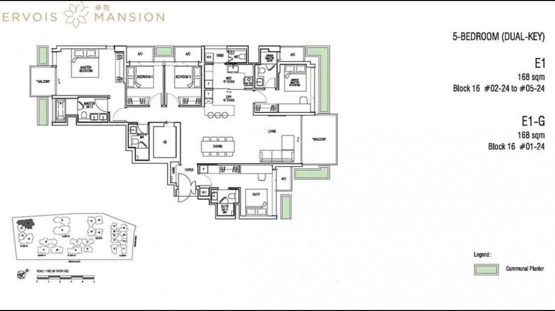 Jervois Mansion - Floorplans 5BR
