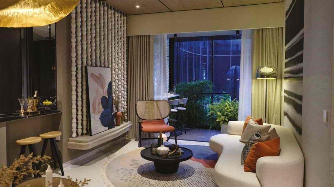 Jervois Mansion - Type D2 Living room